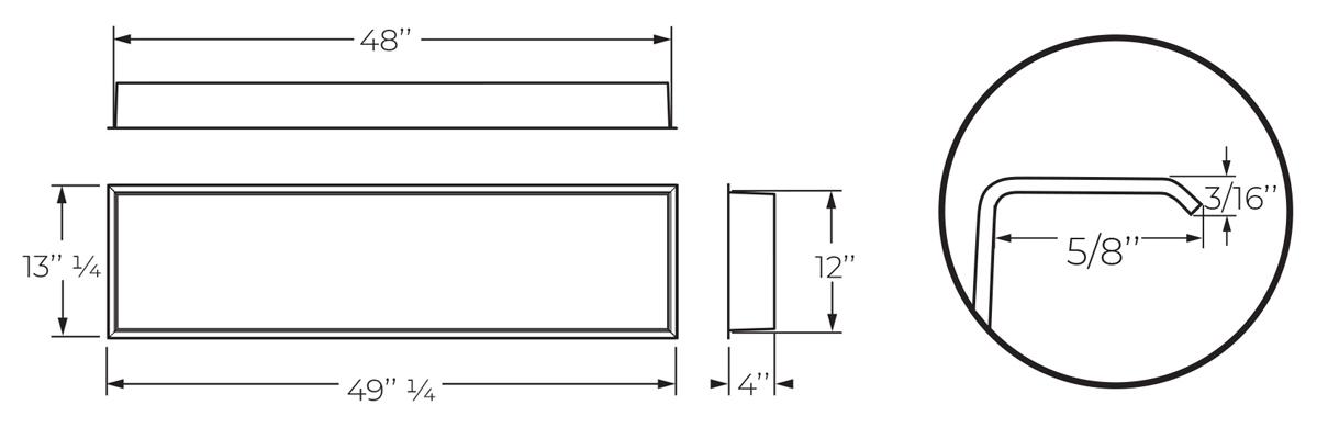 Dimensions de la niche de salle de bain - ALBA